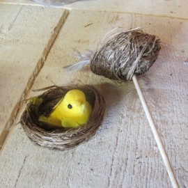 Vogelnestje zonder steker geel