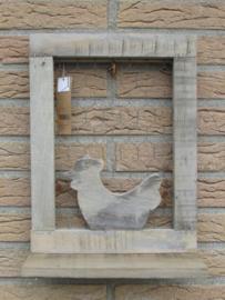 Paneel met kip en kippengaas 38 cm