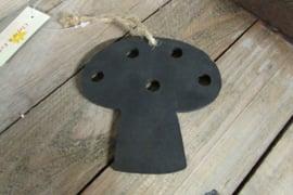 Krijtbordje paddenstoel 10 cm