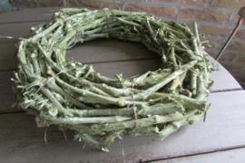 Krans  druivenhout mosgroen 40 cm