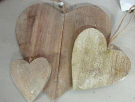 Hart naturel 25 cm (de grootste)