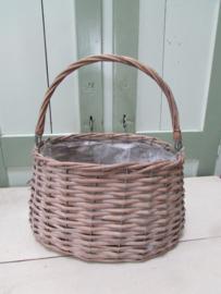 Rieten mand (model tas) groot 28x18 cm
