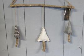 Kerstbomen mobiel 10x40 cm