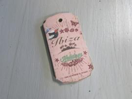 Ibiza tekstbord 13 cm