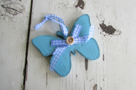 Vlinder 9,5 cm blauw