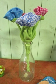 boeketje stoffen bloemen