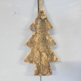 Kerstboompje van schors