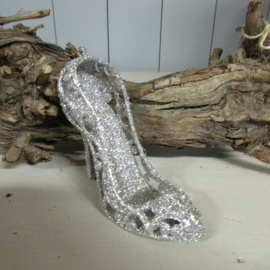 Schoentje zilver/glitter