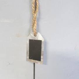 Label zink krijtbordje 3,5x6 cm