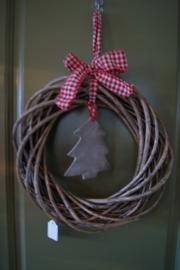 Krans met kerstboompje