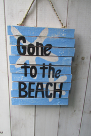Beach tekstbord 25x32 cm