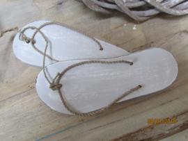 Slippers voor decoratie per paar, 20 cm grijs