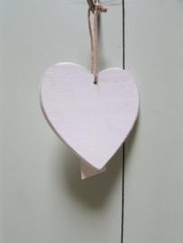Hart van hout 10 cm ,  it