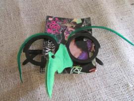Bril met heksenneus groen