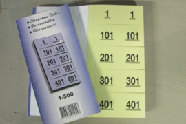 Nummerboekje voor workshops