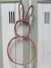 Haas met kippengaas  60 cm