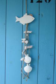 Vis met decoratie wit