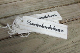 "Label ""home where the heart is"" 10x3 cm"