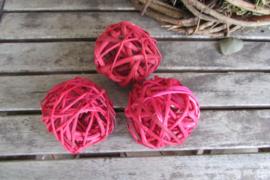 Deco bal 6 cm rood