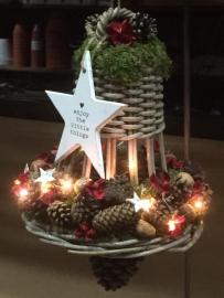 Kerstklok met lichtjes opgeven kan via de mail