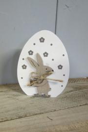 Haasje/konijntje op eitje  10 cm