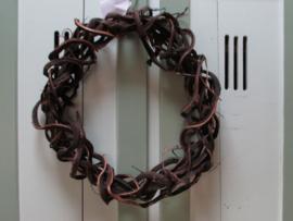 Kronkelkrans donker bruin 40 cm
