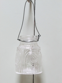 Vaasje van glas van 8 cm