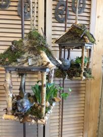 Birdhouse met powertex vogeltje (alleen af te halen)