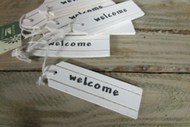 "Label ""welcome "" 10x3 cm"