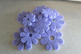 Bloemen van vilt lila
