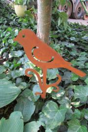 Vogel tuinsteker roestig