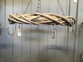 rieten hangende krans met haken 45 cm