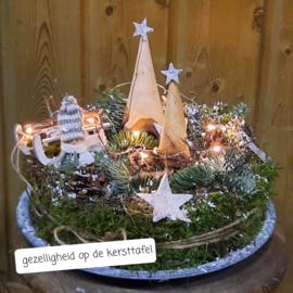 Gezelligheid op de kersttafel