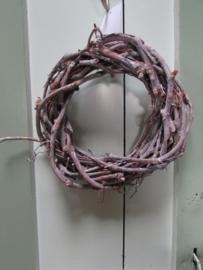 Krans van druivenhout 20 cm doorsnee
