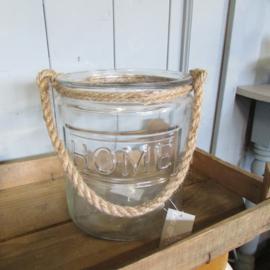 Glazen pot Home