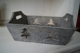 Kistje grijs met boompje