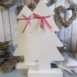 Kerstboom hout wit 50cm