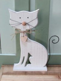 Poes, Kitty van hout, wit 30x17 cm
