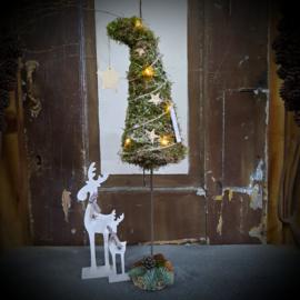 Kerstboompje op voet thuispakket, excl rendier