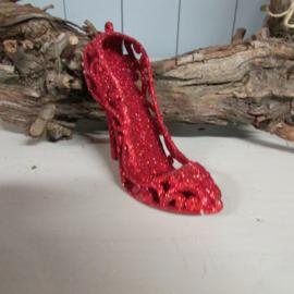 Schoentje rood/glitter