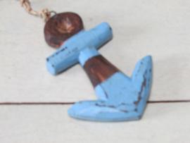 Ankertje van hout, 10,5 cm