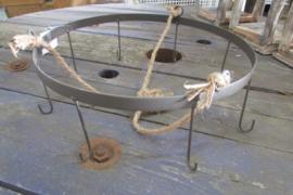 Hangrek metaal met 8 haken 30 cm