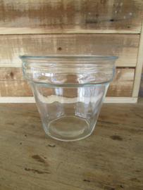 Windlicht van glas 13,5 cm hoog