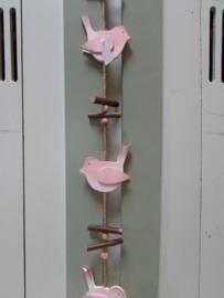 Vogel guirlande roze 1.10 m