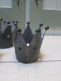 Kroon windlichtje 9 cm