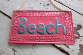 BEACH tekstbord 30x16 cm