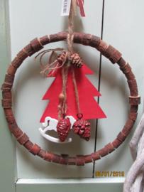 Kerstboomdecoratie in kransje