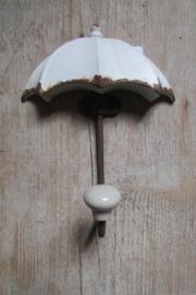 Haak paraplu wit
