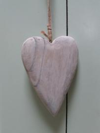 Hart van hout 10x15 cm