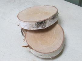Houten schijf 9/10 cm naturel